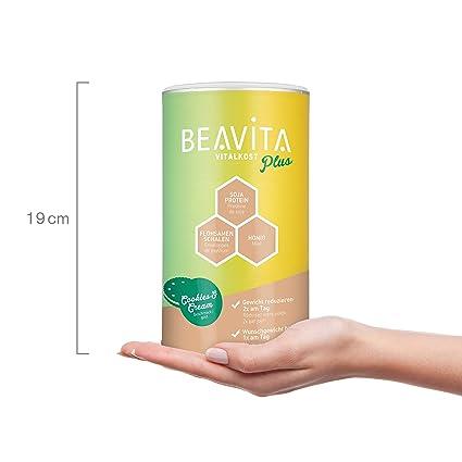 BEAVITA Vitalkost sabor cookies & cream | 572g | 208 kcal en cada porción | Fácil Preparación | Sin gluten o conservantes | Suplemento con proteína, ...
