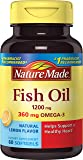 Nature Made Fish Oil 1200 Mg with Lemon Essence, 60 Count
