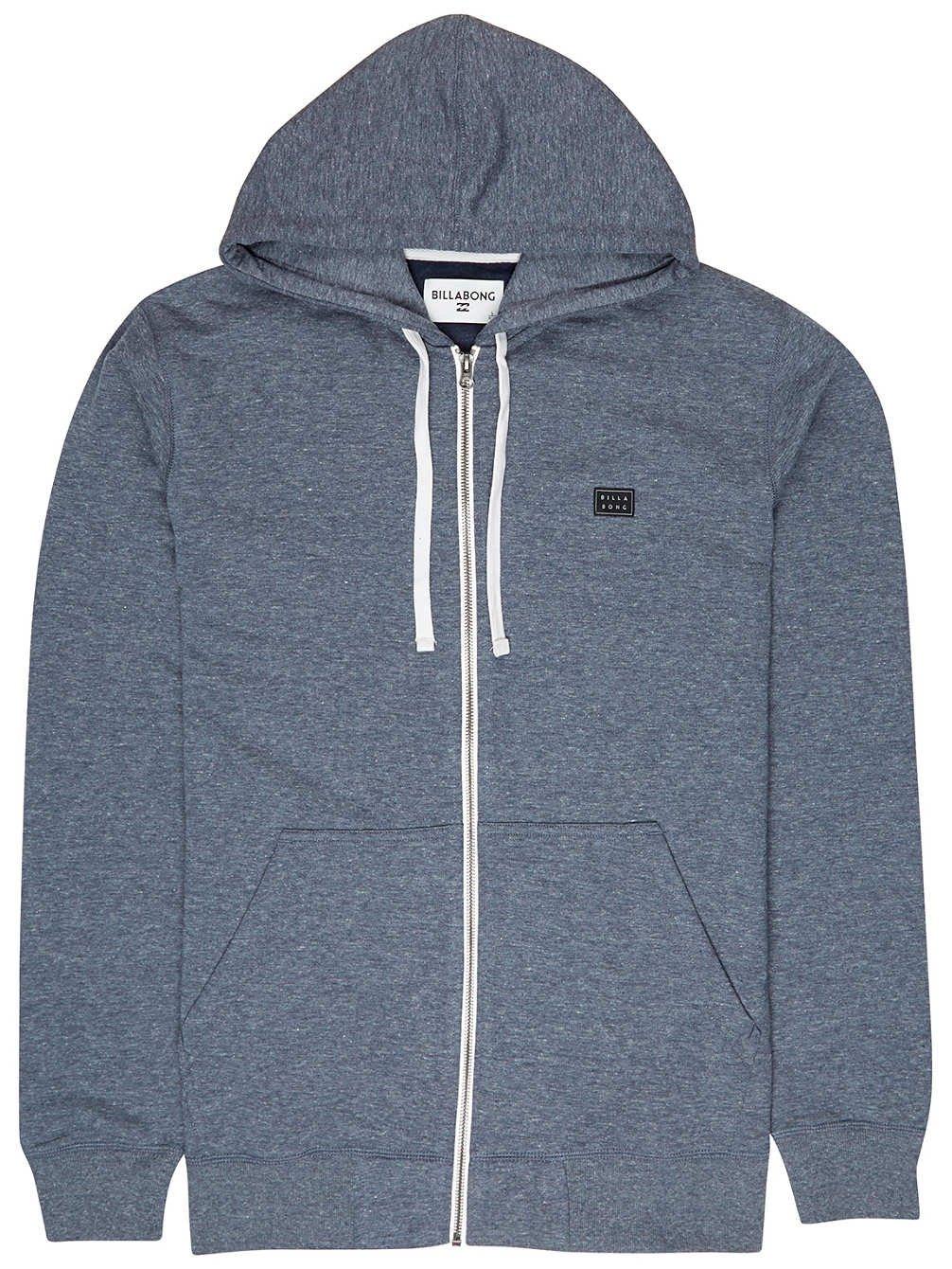 BILLABONG All Day Zip Hood Jersey, Hombre, Azul (Navy 21), X-Large (Tamaño del Fabricante:XL)