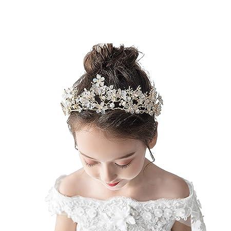 DONGYUER Sombrero de niña Princesa Corona Chica Cristal ...