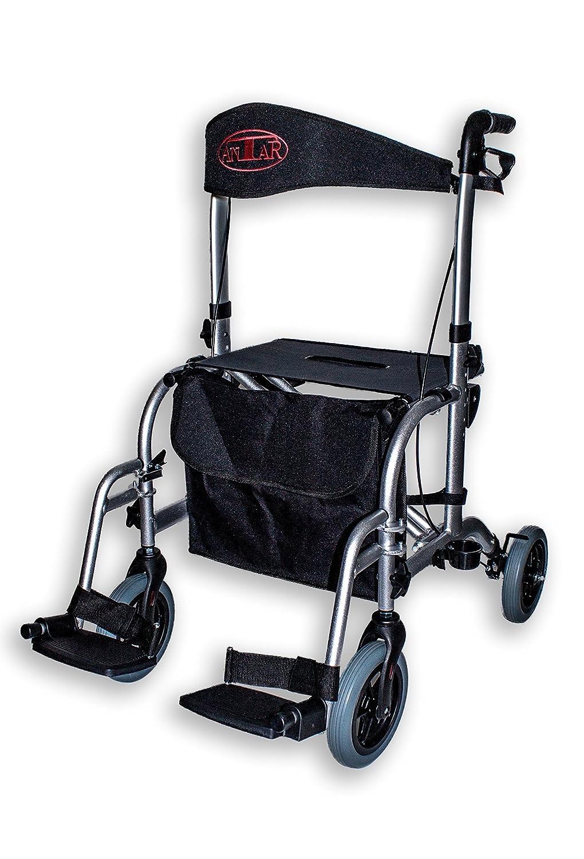Antar 13709 Premium Hybrid-Rollator Aluminium und Rollstuhl in einem ...