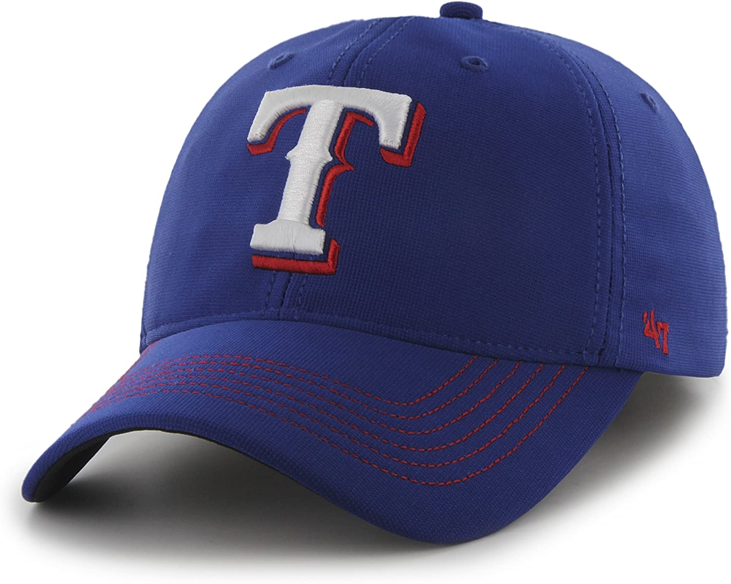 47 MLB Texas Rangers Brand Game Time Closer Stretch Fit Hat