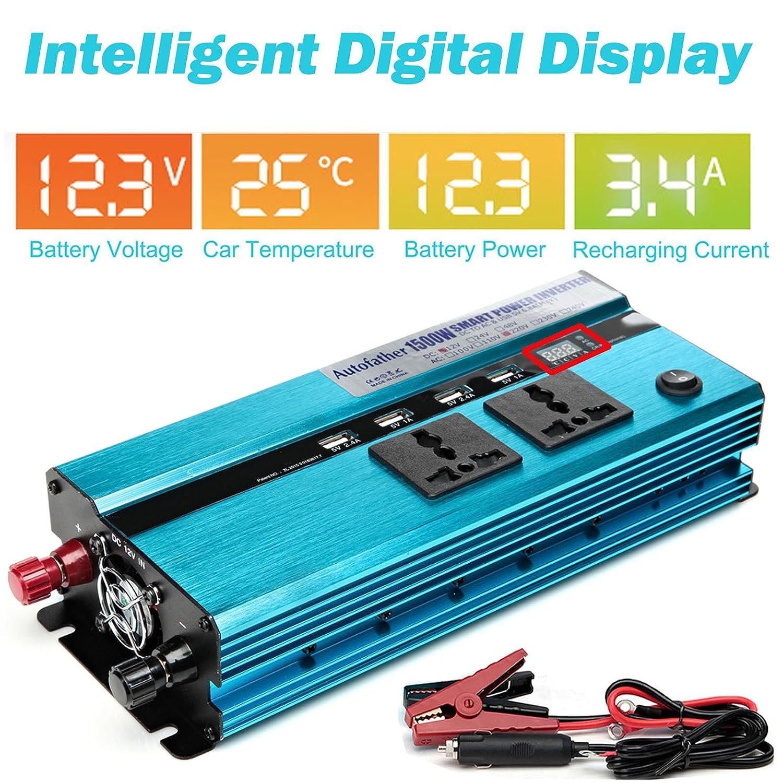1500W Outdoor Power Inverter Car Cigarette Lighter Socket DC 12V to ...