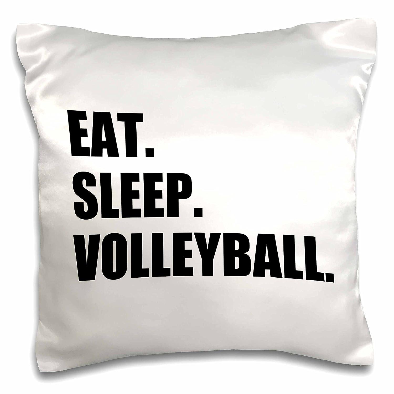 16 by 16 3dRose pc/_180458/_1 Eat Sleep Wrestle-Black Text Wrestling Fan Wrestler Sport Enthusiast-Pillow Case
