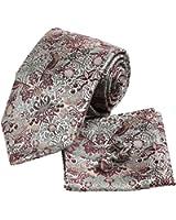 YAC1B03 Valentines Gift Idea Multicolored Pattern Silk Tie 3PT By Y&G