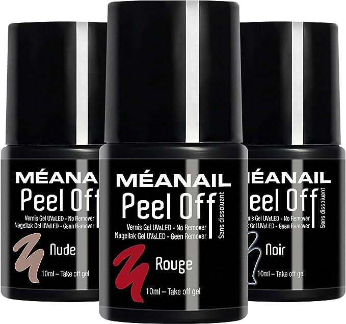 MEANAIL Smalto Semipermanente • Smalto 3 in 1 Peel Off • 3