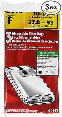"""Never-Clog Pre Filter Vacuum Bag Pullman-Holt Works On 6""""-14"""" Shop-vac /& More"""