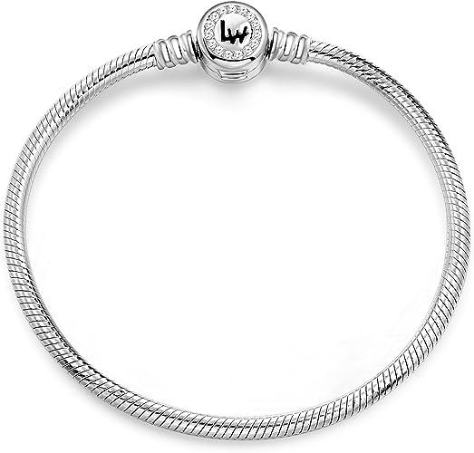 2018 Hot Fashion Woman European Charms Bead Fit 925 Silver Snake Bracelets Chain