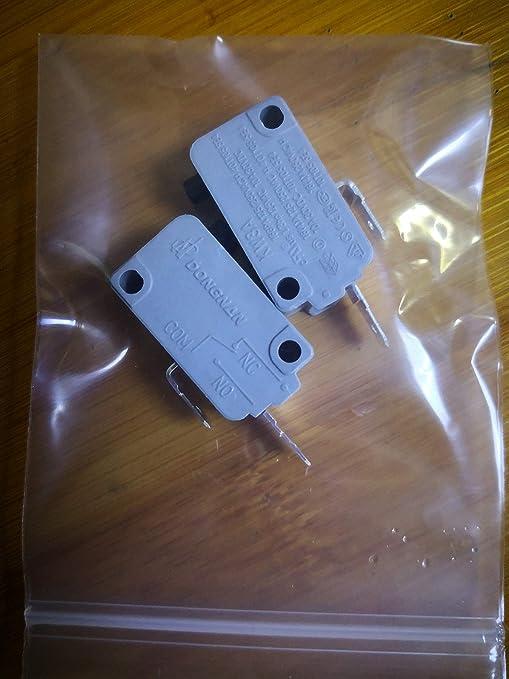 Amazon.com: 2 microinterruptores KW3A 16A250V para puerta de ...
