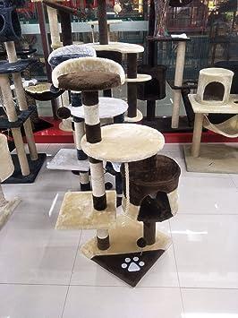 HOME STYLE Rascador de Gatos en Árbol de Gato Grande Centro de Actividad Rascador Poste de Escalada Árbol de Torre con Juguetes de Gato: Amazon.es: ...