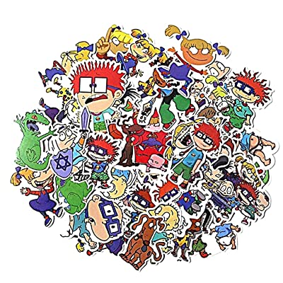Rugrats Classic Cartoon Decal Stickers Assorted Lot of 40 Pieces: Kitchen & Dining