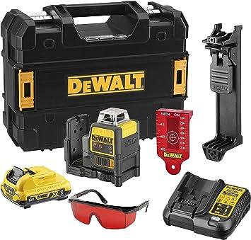 Dewalt DCE0811D1R-QW Láser autonivelante 2 x 360º. Incluye batería DW 10.8 V Lithium, Negro/Amarillo/Verde: Amazon.es: Bricolaje y herramientas