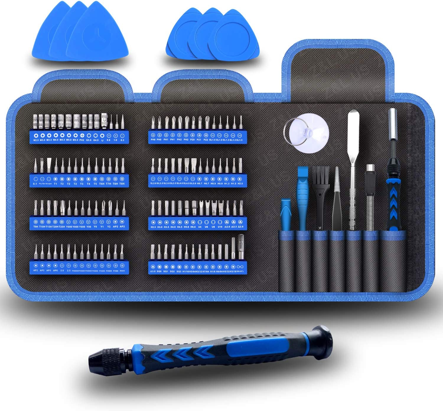 LB1 High Performance Professional 54 Piece Tool Screwdriver Bit Set Repair Kit Hand Tool Kit for Acer Black 11.6 Travelmate B113M PC with Intel Core i3-2375M Processor and Win 10 Operating System