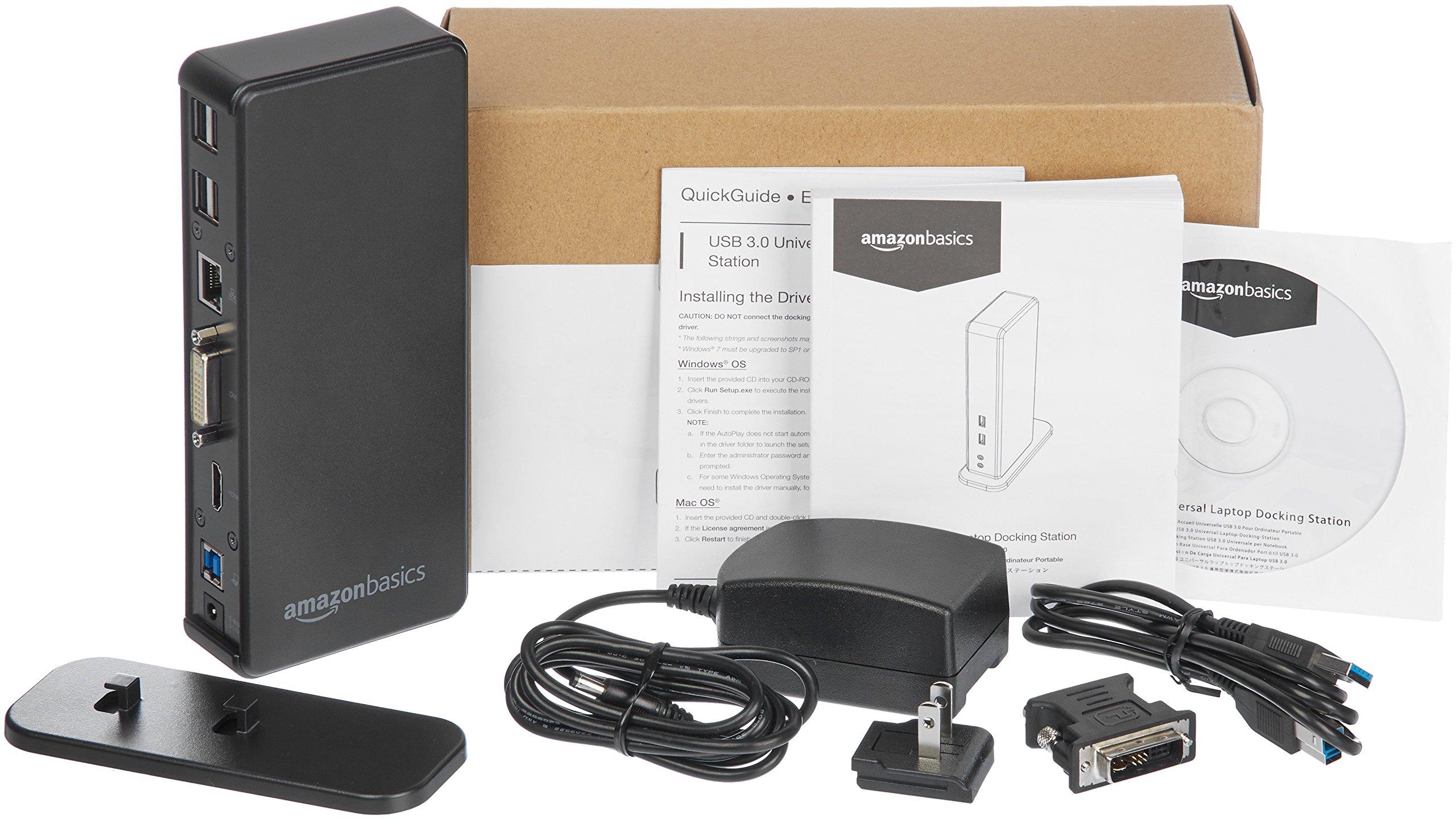 AmazonBasics USB 3.0 Universal Laptop Docking Station by AmazonBasics (Image #5)