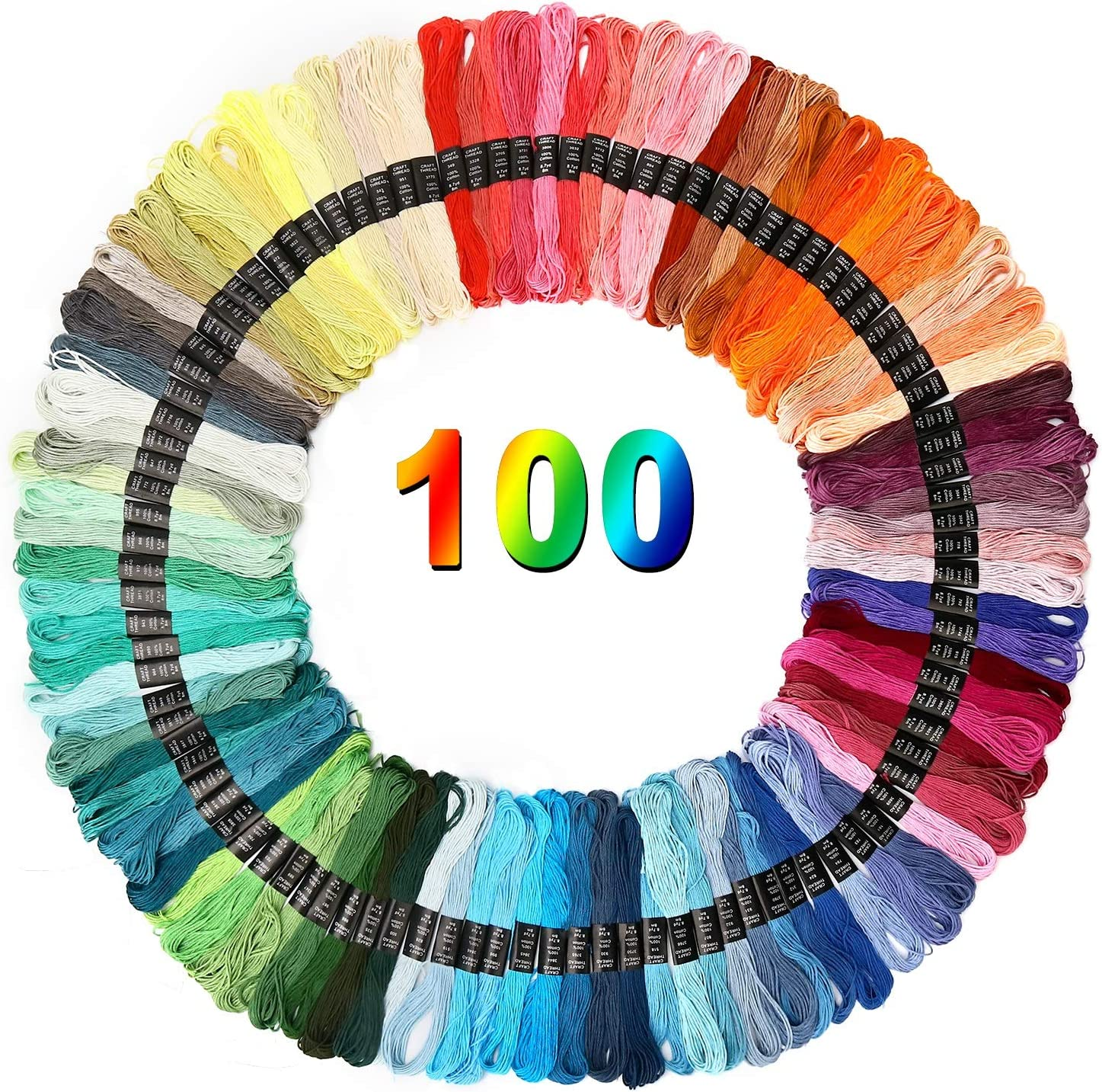 NO DMC Set of 25 skeins Embroidery Floss Polyester Thread Cross Stitch Floss