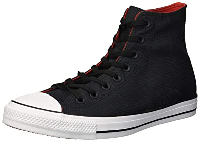 b392dd87bf331a ... france converse mens chuck taylor all star lightweight nylon high top  sneaker black enamel red ba3f3