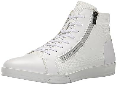 Calvin Klein Mens Berke Emboss Leather Fashion Sneaker  Z22IXHG3G