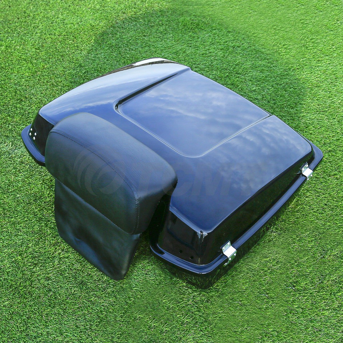 Chopped Tour Pak Pack Trunk w// Backrest For Harley Davidson Touring 1997-2013