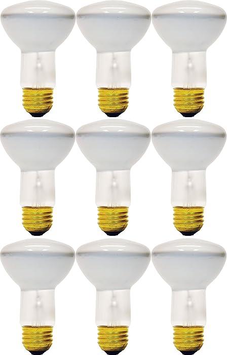GE Lighting Soft White 73027 45-Watt, 310-Lumen R20 Floodlight Bulb with Medium Base, 12-Pack