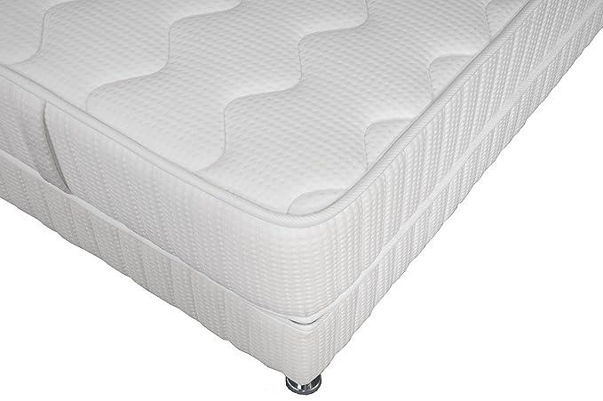 Simmons Barcelona colchón + somier + pie Blanco, Blanco, 90 x 200 cm: Amazon.es: Hogar