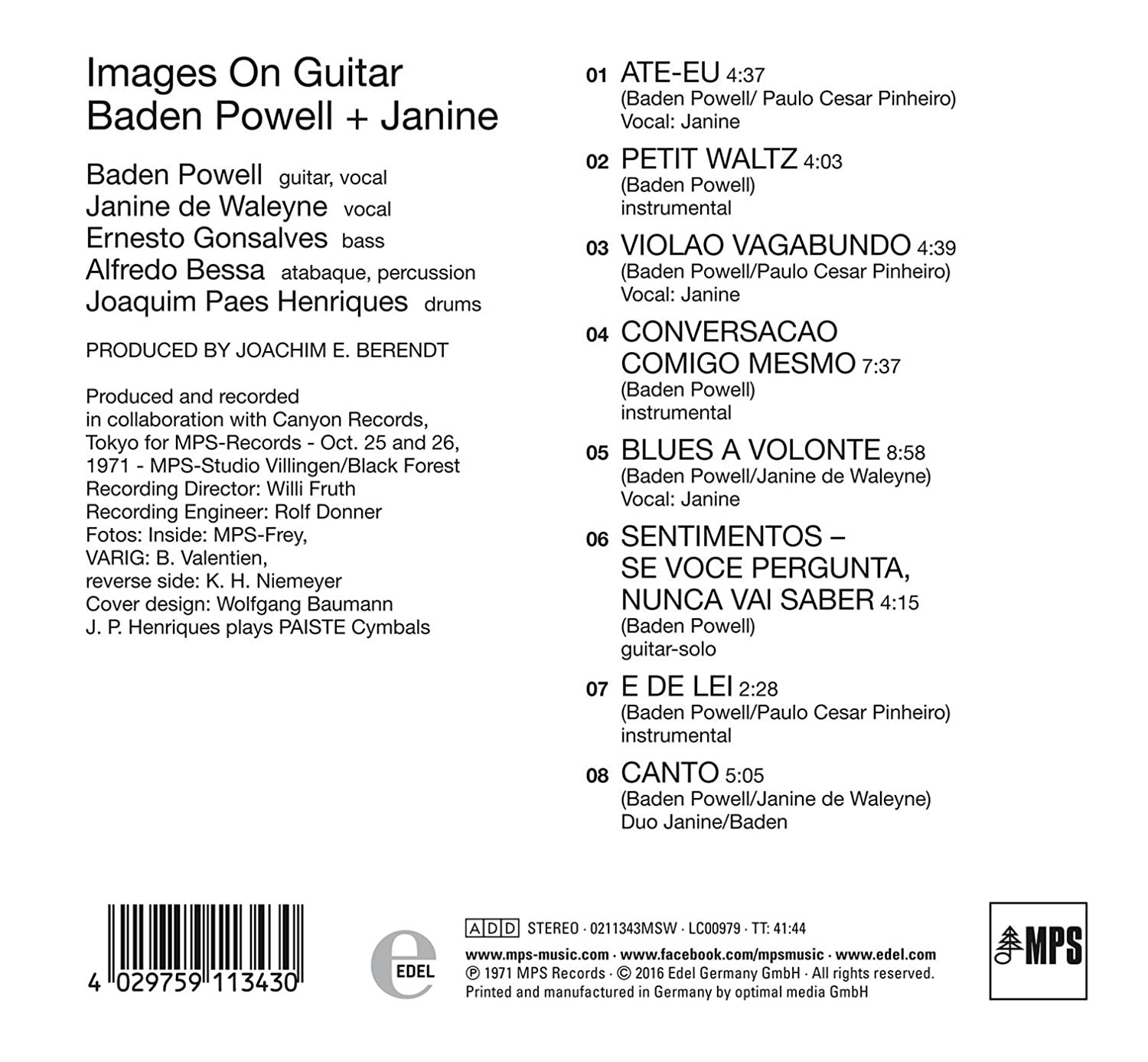 40d8e371a69ae7 Images on Guitar - Baden Powell  Amazon.de  Musik