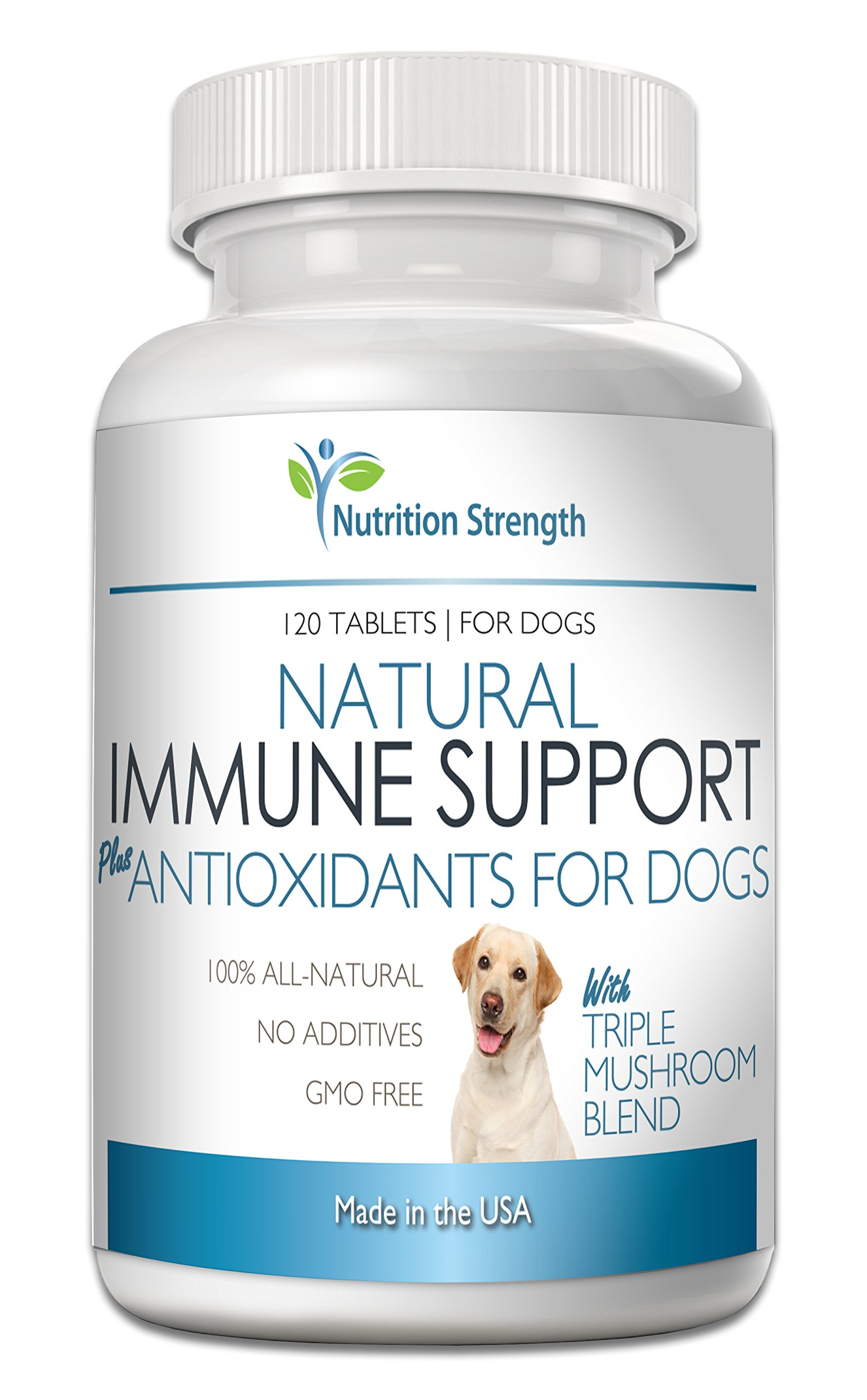 Nutrition Strength Natural Immune Support for Dogs Plus Antioxidant, 120 Chewable Tablets