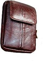 Men's Belt Pouch Waist Fanny Packs Leather Purse Cellphone Holster Belt Waist Bag Pack for Phone and Money iPhone 7 Plus...