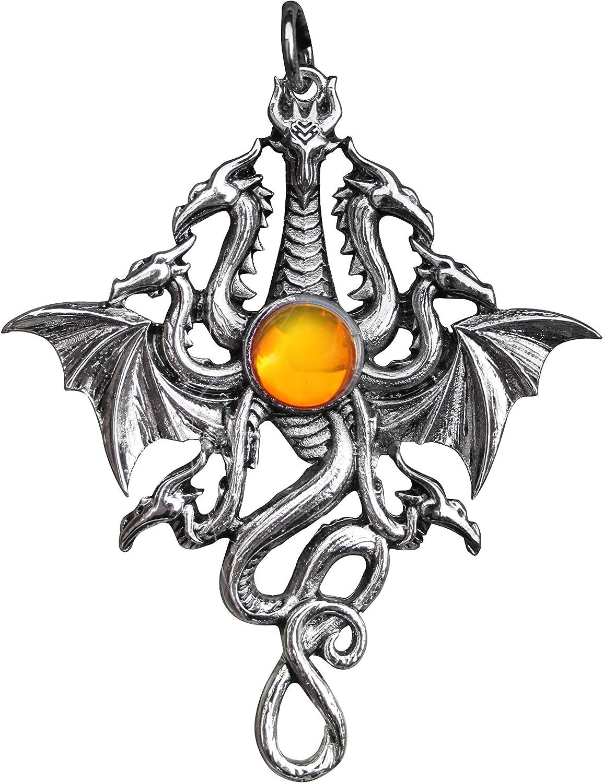 Briar Lernean Hydra - Collar con Colgante para fluidez y Potencia Bestiary con Bolsa de Almacenamiento de Terciopelo