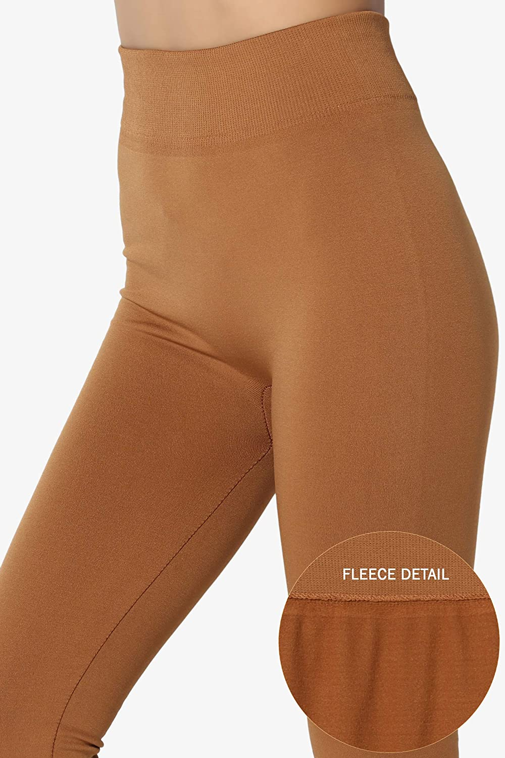 f9b6f823893e20 TheMogan S~3X Warm & Comfort Seamless High Waist Insulated Fleece Leggings  at Amazon Women's Clothing store: