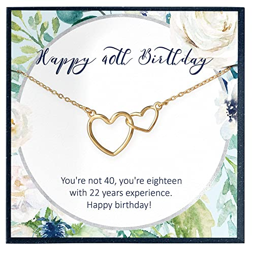 Amazon Com 40th Birthday Gifts For Women Gift Ideas Gift For 40 Year Old Woman 40 Birthday Necklace Fabulous Forty 40th Birthday Gifts For 40 Birthday Gift Handmade