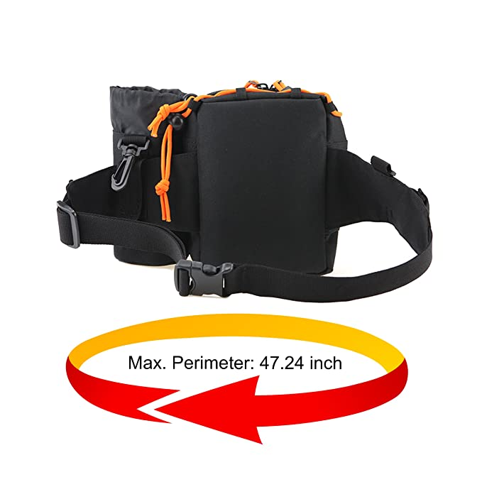 HETTO Waist Pack Army Fanny Pack Bumbag Tactical Wait Bag Hip Belt Pouch with Water Bottle Holder Waterproof for Hiking Walking Cycling Fishing Climbing for Men and Women