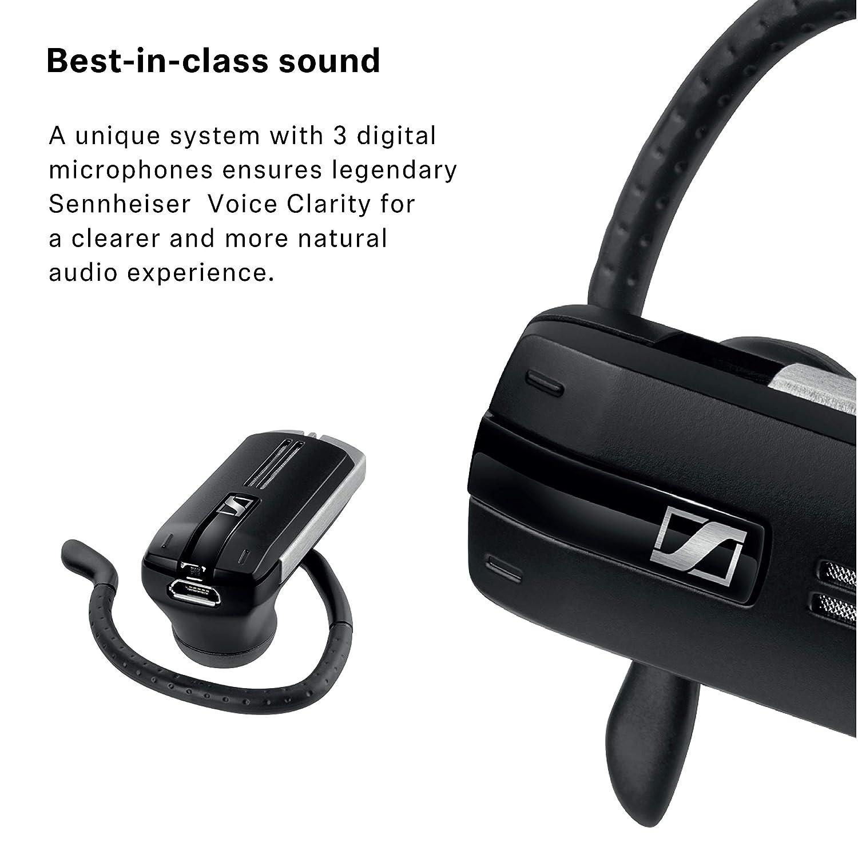 Sennheiser PRESENCE Business - Auriculares (Monoaural, Negro, Gris, gancho de oreja, Dentro de oído, Bluetooth, 25m, 4.0): Amazon.es: Electrónica