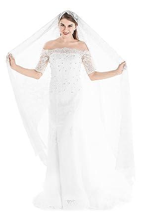 c1397dabd11 Yean Women Lace Wraps Lightweight Long Shawl Evening Dress Scarf Spring  Bolero White Soft Scarves -