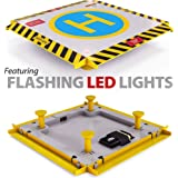 Remote Control Helicopter Landing Pad - Complete Edition - Flashing LED Lights Installed - Suitable for RC Helicopters, Quadcopters, Drones, Syma Helicopters