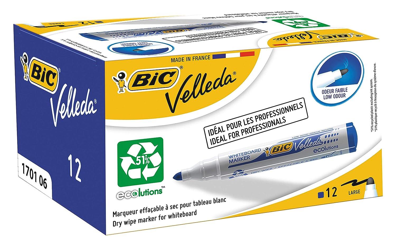BIC Velleda 1701 ECOlutions Whiteboard Pens Green Box of 12