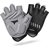 HOMPO Bike Gloves Cycling Gloves Half Finger for Men Women with Foam Padding Breathable Mesh Fashion Design for Motorcycle Bicycle Mountain Riding Driving Sports Outdoors Exercise S-XL