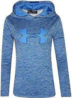 3b9ee0687558 Under Armour Womens UA Storm Big Logo Hoodie HEATHER Athletic Shirt (Lapis  Blue Heather
