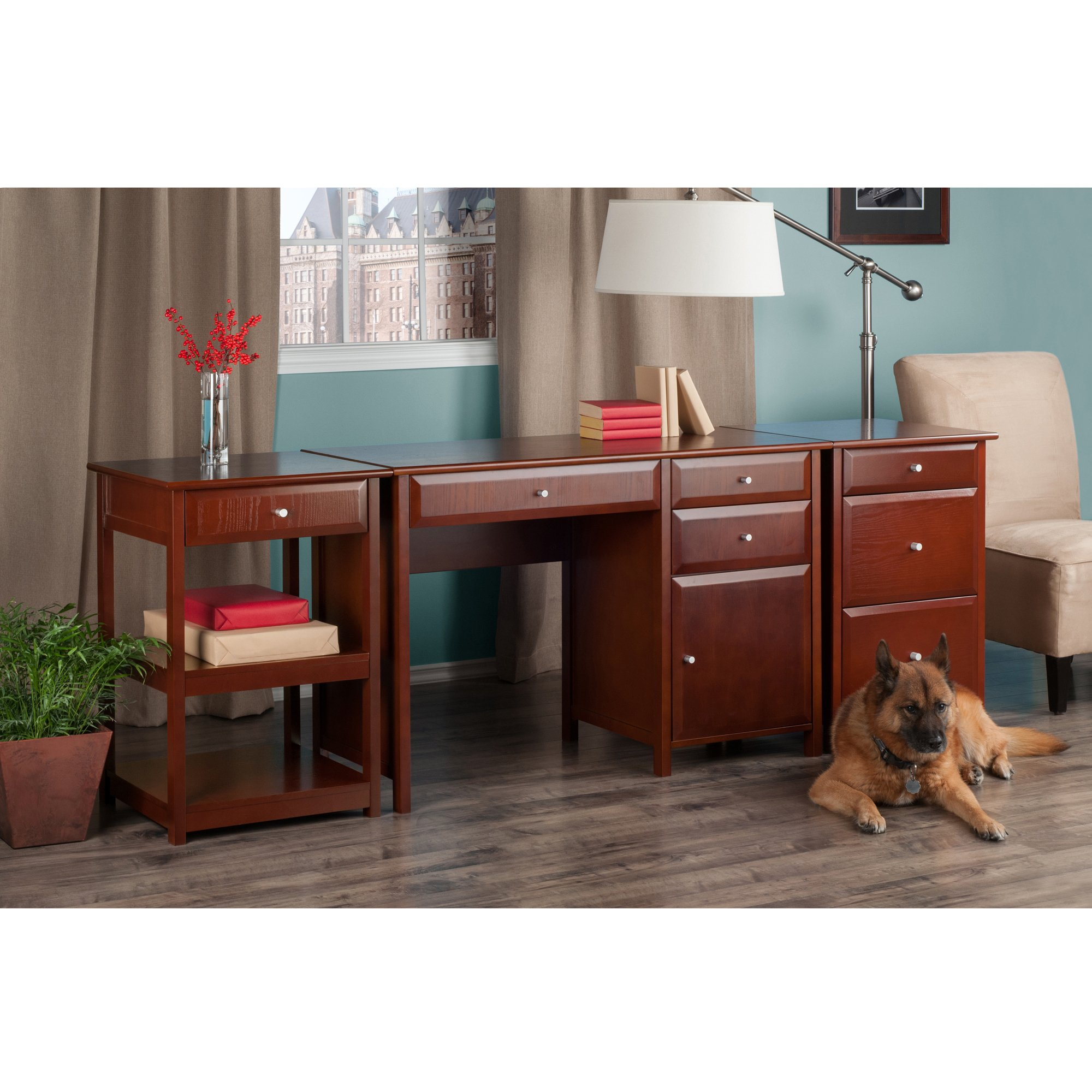 Winsome Wood 94321-WW Delta Home Office, Walnut by Winsome Wood (Image #6)