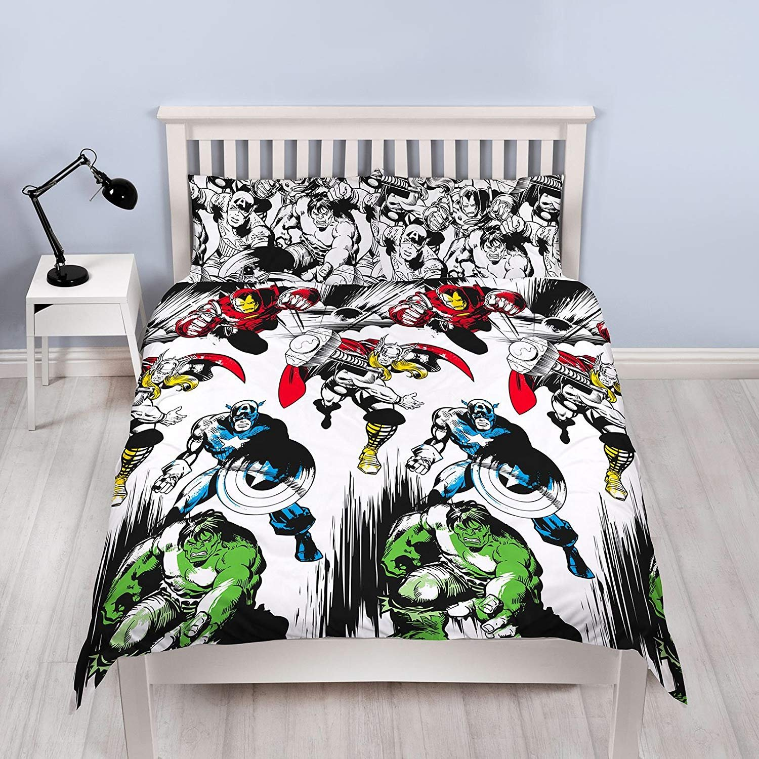 Marvel Comics Crop Unfilled Double Duvet Cover and Pillowcase Set 1 Duvet Cover and 2 Pillowcases Character World DMCCRPDD001UK2