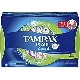 Tampax Pearl Compak Tampons Super, Medium, 36 count