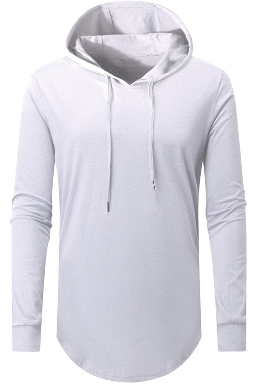 AIYINO Mens Hip Hop Short Sleeve/Long Sleeve Pullover Hoodies t Shirts
