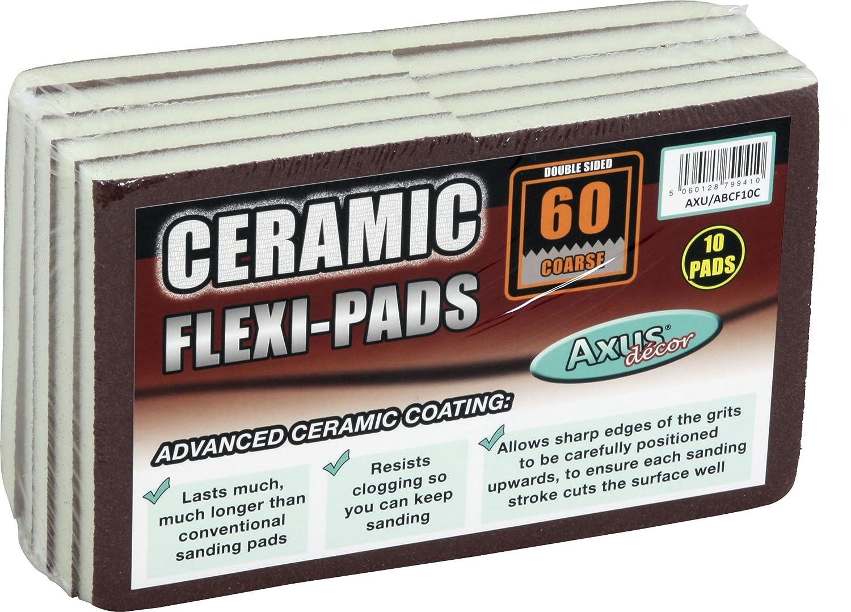 Axus Decor AXU/ABCF10C 60-Grit Ceramic Flexi-Pad (Pack of 10) Axus Décor