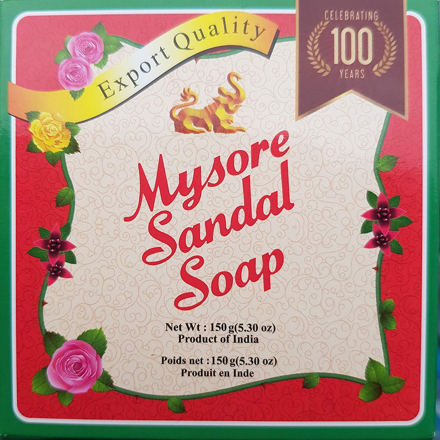 Mysore Sandalwood Soap 150G Double Size (Pack Of 3) by Mysore Sandal Spicy World