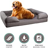 Orthopedic Pet Sofa Bed - Dog, Cat or Puppy Memory Foam Mattress - Comfortable Couch For Pets With Removable Washable Cover - By Petlo