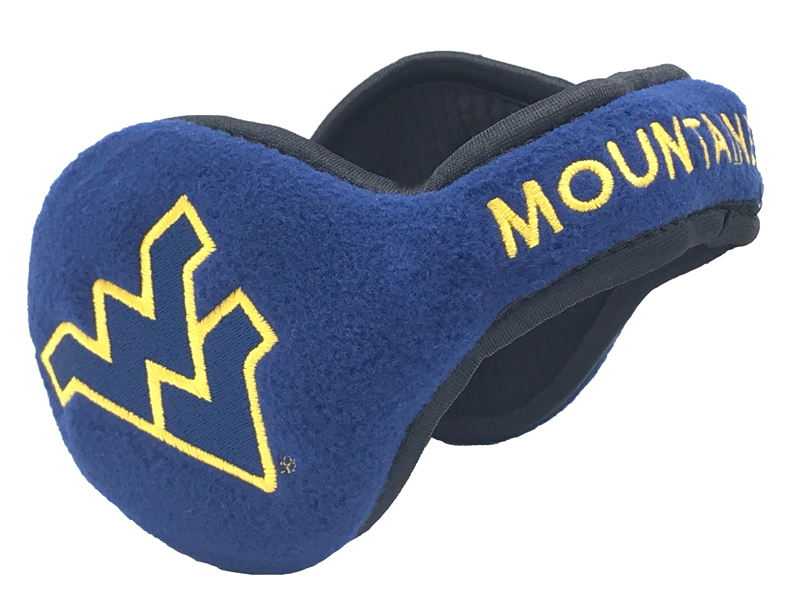 180s West Virginia Mountaineers Behind-the-Head Ear Warmer, Unisex, One Size Fits Most, Blue