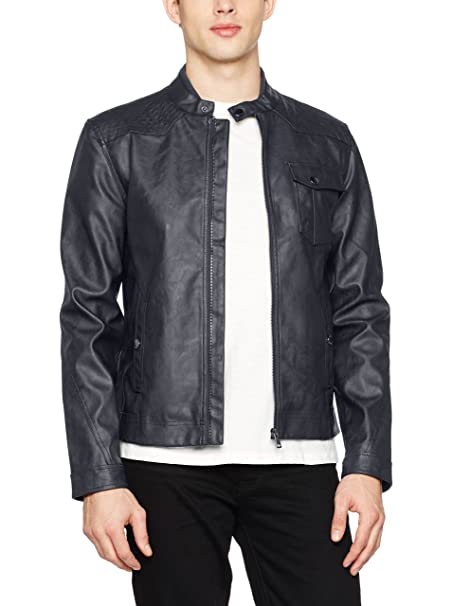 Guess Stretch Eco Leather - Chaqueta Hombre: Amazon.es: Ropa y accesorios