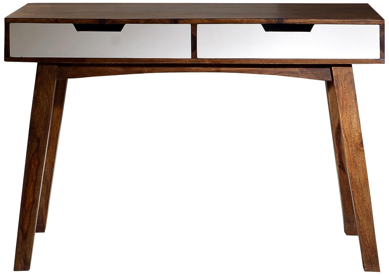 sit m bel 7707 10 schreibtisch sixties antikfinish 120 x 60 x 80 cm wei braun g nstige. Black Bedroom Furniture Sets. Home Design Ideas