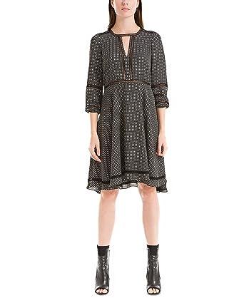 0b271bc4d11fdb Max Studio London Printed Crochet-Trim Dress, Black, Medium at ...