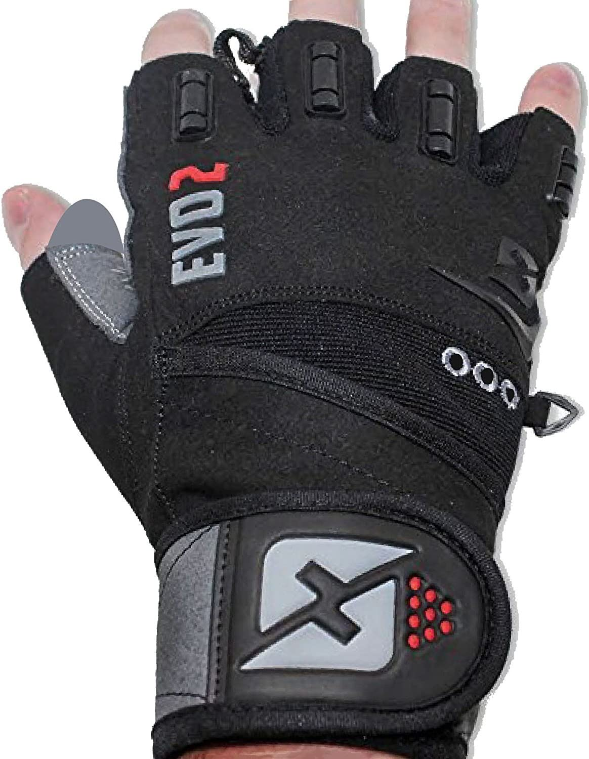 skott Evo 2 Weightlifting Gloves with Integrated Wrist Wrap Support-Double Stitching for Extra Durability-Get Ripped with The Best Body Building Fitness and Exercise Accessories : Sports & Outdoors