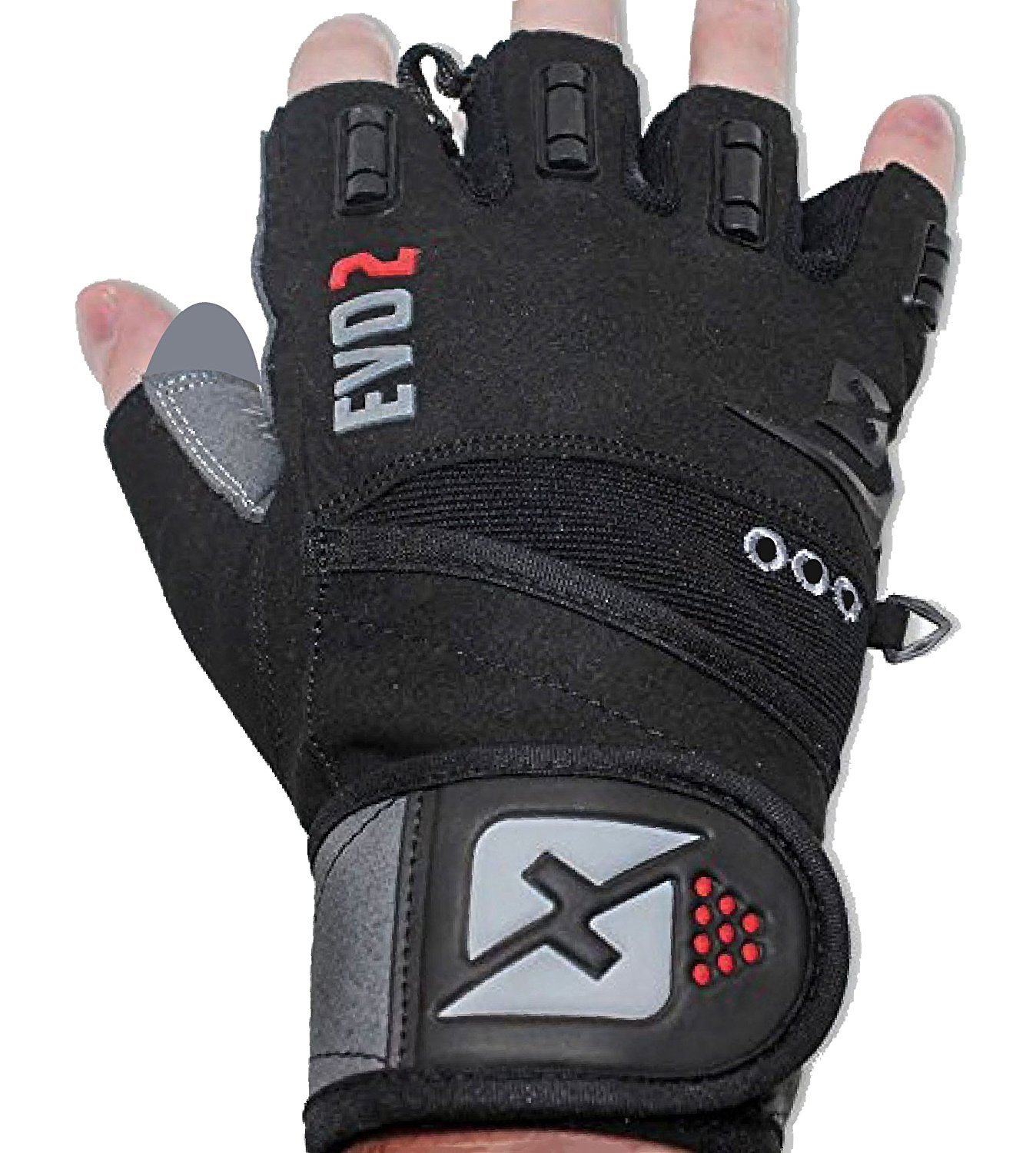 skott 2019 Evo 2 Weightlifting Gloves with Integrated Wrist Wrap Support-Double Stitching for Extra Durability-Get Ripped with The Best Body Building Fitness and Exercise Accessories (Small)